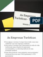 M1 - As Empresas Turisticas - Tipologia