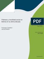 CASTELLANI y ZENTENO. Pobreza y Movilidad Social en Bolivia en La Ltima Dcada