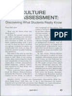 Culture and Assessment. Discovering What Students Really Know