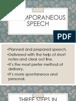 Extemporaneous Speech