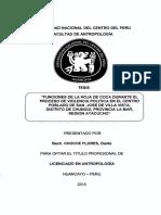 Funciones de La Hoja de Coca Durante El Proceso de Violencia Politica en El Centro - 2014