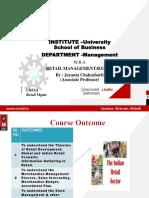 Retail Management Unit 1 Final