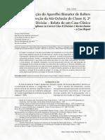JANSON 2004 a Utilização Do Apar Bionator de Balters p a Correção Da MO de Classe II 2ª Divisão Relato de CC