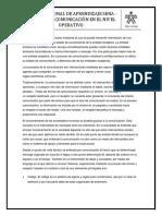 TECNICAS DE COMUNICACION EN EL NIVEL OPERATIVO. SEMANA 1. La comunicación.docx