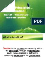 Generalprinciplesof Taxation