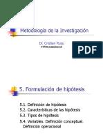 Hipotesis y Tipos