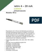 Caracteristicas de Piezómetro 4