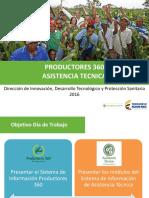 Presentación Socialización Regional Productores 360