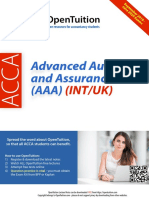 ACCA AAA Notes September 2019 Exams
