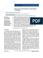 Elemental Composition and Concentration of Atmospheric  Particulate Matter in Kuwait