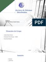 Arquitectura de Sistemastrabalho Adsfg g Hg Gj Gj Gj