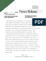 09192019 - Media Release - House Burglary Arrests