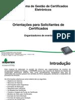 NTIC Sistemas SGCE Orientações Para Solicitantes de Certificados