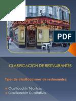 Clasificacion y Tipos de Restaurantes