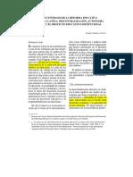 Temas Centrales de La Reforma Educativa en América Latina- Descentralización, Autonomía Escolar y El Proyecto Educativo Institucional