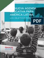 Libro La Nueva Agenda Educativa Para América Latina Los Objetivos Para 2030
