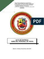 Acta de Entrega Baño Del Personal de Tropa - Copia