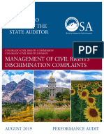 Colorado Auditor Report