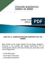 Presentacion burocrática moderna de weber