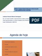Terapia Cognitivo-Comportamental para intervenção com adolescentes suicidas 13.07.19