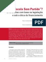 Artigo Sobre ESCOLA SEM PARTIDO - Rubens Camargo e Cesar Minto