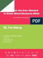 Csswizardry - Harry Roberts - Resource Hints