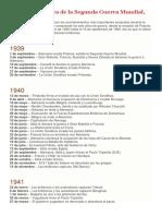 Cronología Básica de La Segunda Guerra Mundial-1939-1945