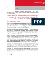 Comunicat d'Iberia de resposta a Vueling