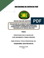 Eval de Alim Micropeletizado Sobre Caract Productiva y Econm de Alevines Nacionales -UNCP-2013