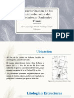Caracterización de Los Óxidos de Cobre Del Yacimiento Radomiro1