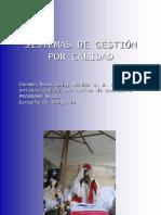 Sistemas de Gestión Por Calidad (Integración)