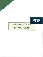 Especialista en Esructuras