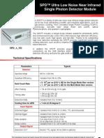 Single Photon Detector A Urea Technology v1 0