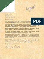 Carta de Ángel Pérez Casilla a Lornna Soto