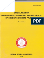 IRC SP 83 2018-Rigid Pavement Maintenance