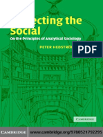 Hedström P. Dissecting the Social