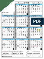 calendrier scolaire presfleuris 19-20