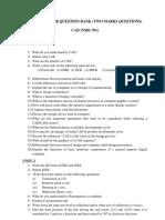 Short Question Bank CAD
