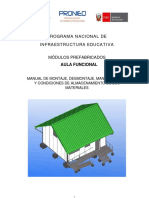 Manual  para instalación de aulas prefabricadas en Perú