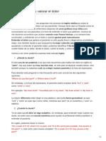 Educaciondigital.es-inglés Médico Cómo Expresar y Valorar El Dolor