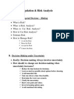 Regulation Analysis Outline