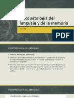 Tema 11. Psicopatología Del Lenguaje y de La Memoria