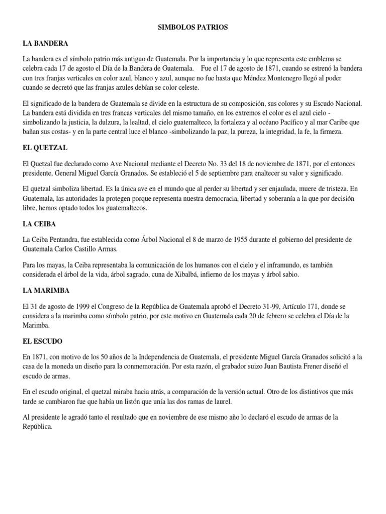 Simbolos Patrios La Bandera Guatemala