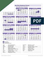 wrms school calendar 2019 2020