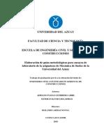 ELABORACION DE GUIAS METODOLOGICAS PARA ENSAYOS DE LABORATORIO DE LA SIGNATURA DE MECANICA DE SUELOS DE LA UDA.pdf