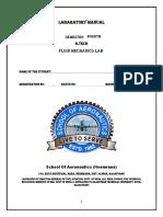 Fluid Mechanics Lab Manual New
