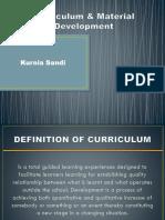 Curriculum & Material Development