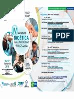 Programa 4a Jornada de Bioética de La Universidad Veracruzana