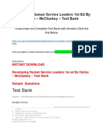 Developing Human Service Leaders 1st Ed by Harley – McClaskey – Test Bank