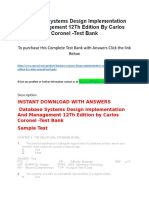 Database Systems Design Implementation and Management 12Th Edition by Carlos Coronel -Test Bank